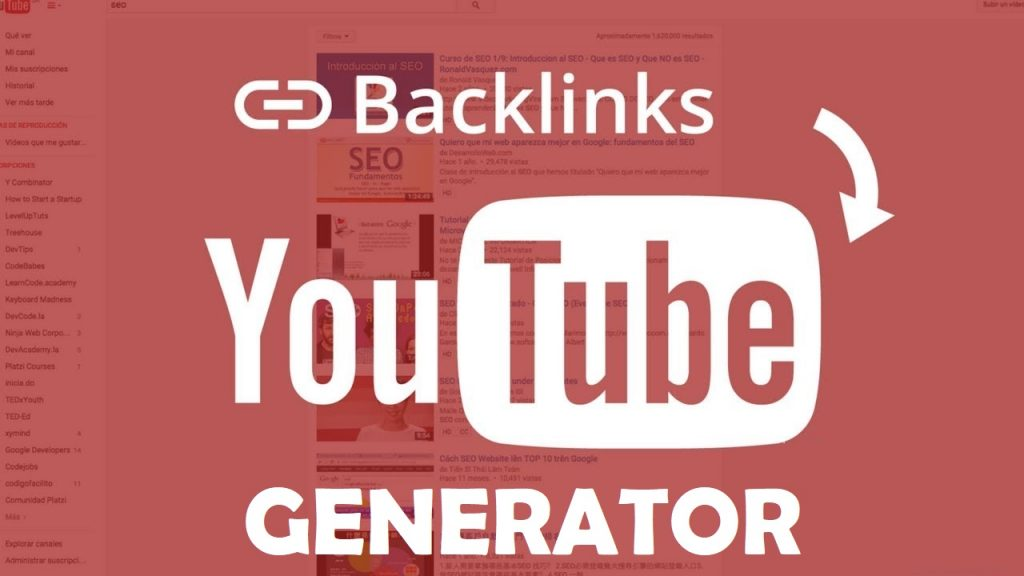 How to YouTube SEO Backlink Generator