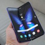 Unfolding Samsung Galaxy Fold SmartPhone