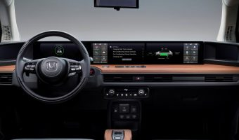 Honda E Prototype Electric Vehicle dual-touchscreen dash