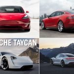 Porsche Taycan electric car vs Tesla Model S 2020