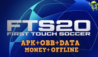 FTS 20 UCL Mod APK OBB Data Unlimited Coins Download