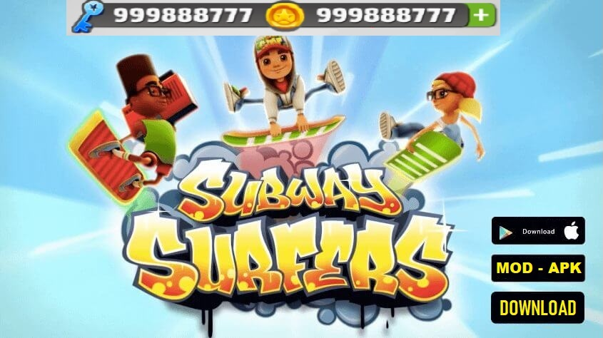 Subway Surfers MOD APK Unlimited Coins Keys Download