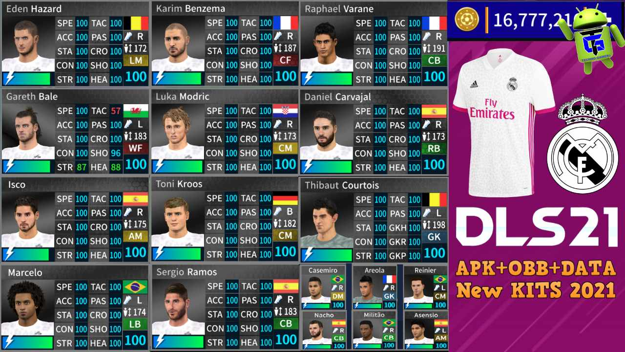 DLS 21 APK Mod Real Madrid 2021 Download