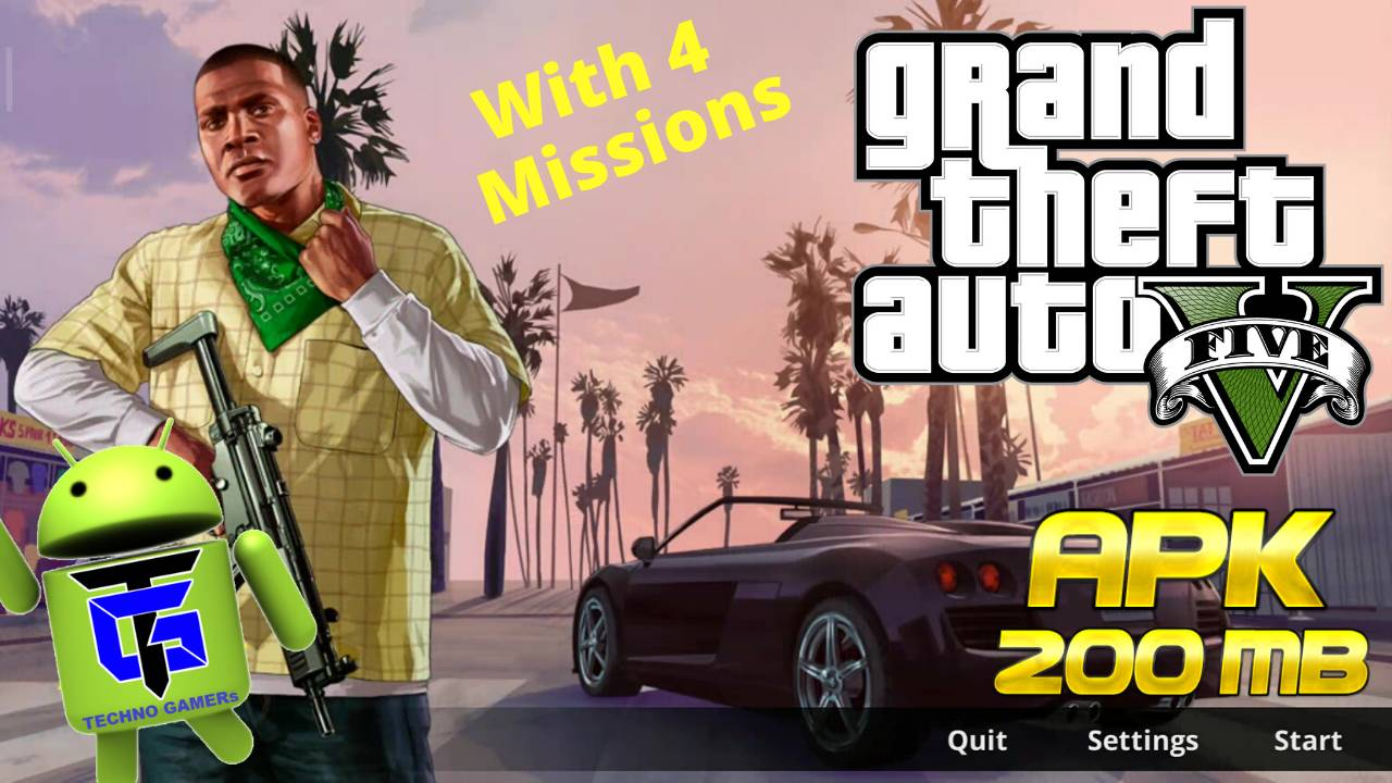 GTA V APK 2020 Android 4 Missions Download