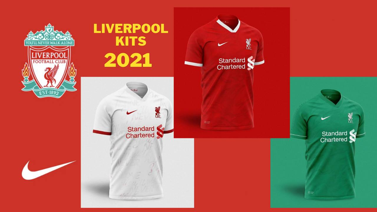 New Liverpool 2021 Kits Home, Away and Third