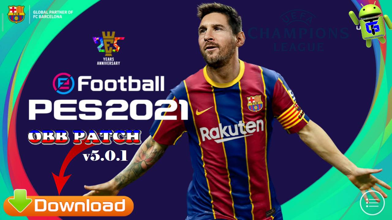 PES 2021 Patch UCL Android Full License Download