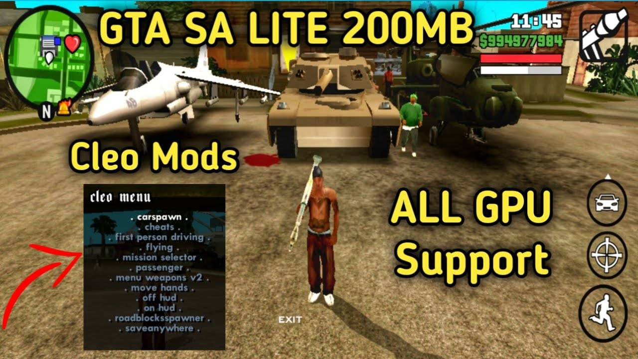 GTA SA Lite Apk Cleo Mod Download