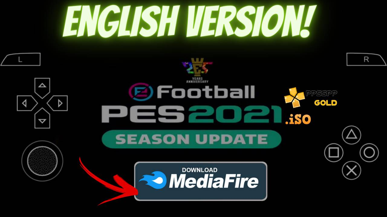 PES 2021 PPSSPP Android English version Textures Download
