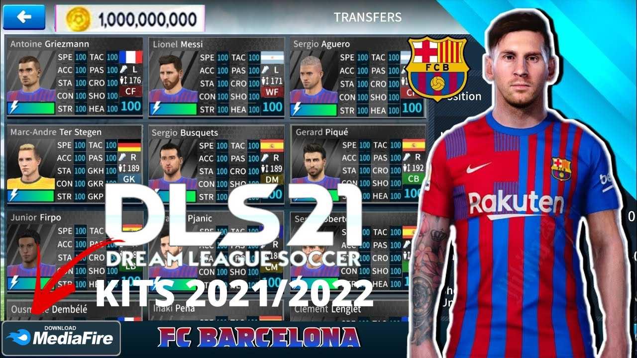 DLS 21 Mod APK Barcelona Kits 2022 Download