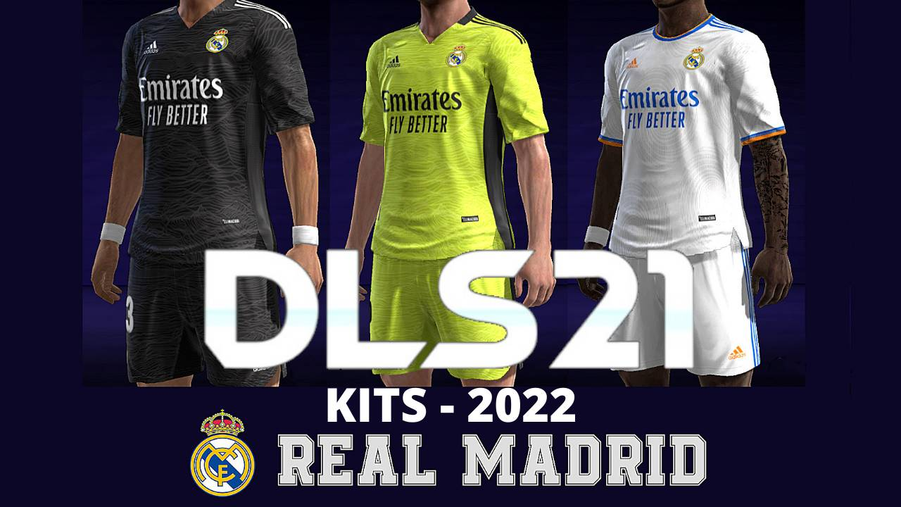 Real Mdrid Kits 2022 DLS 21 Dream League Soccer FTS