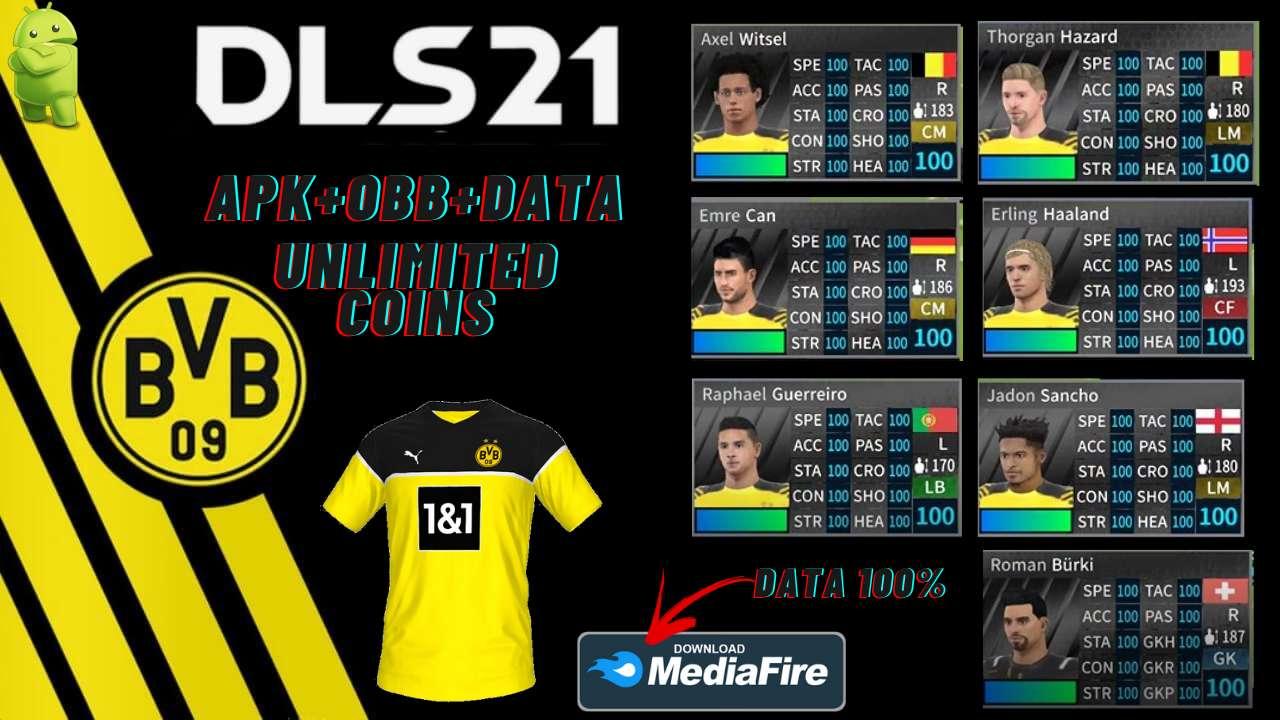DLS 21 APK Borussia Dortmund Hack Profile Download
