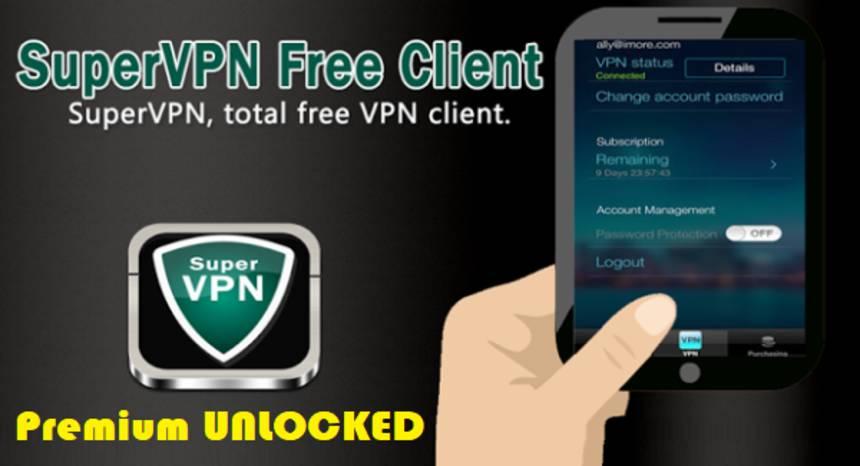 SuperVPN APK Mod Premium Unlocked Android Download