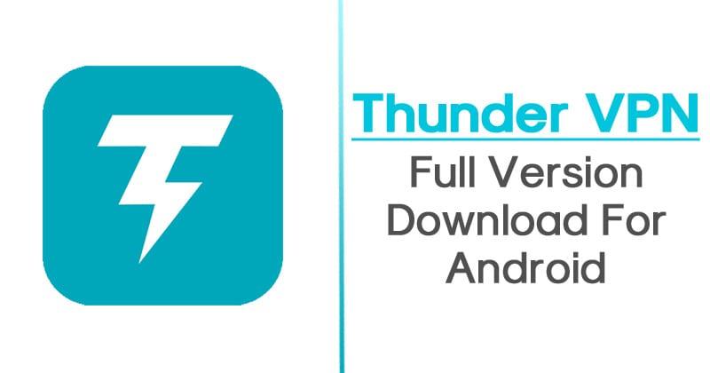 Thunder VPN APK Mod Premium Download